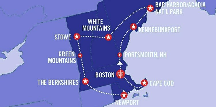 Best of New England Map