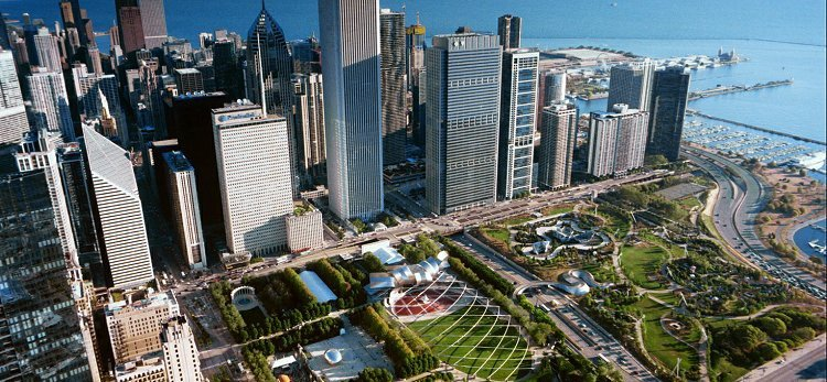 Mill Park Aerial, Chicago, Illinois