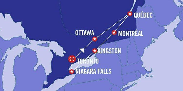 Eastern Canada Explorer Map