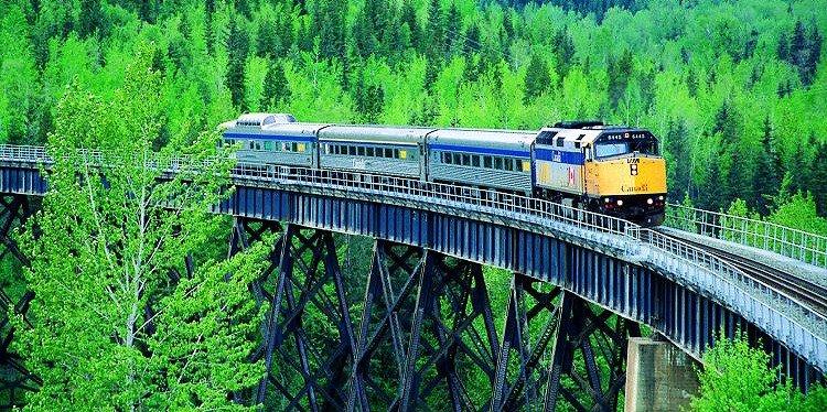 Via Rails Skeen, Jasper to Prince Rupert Train, British Columbia