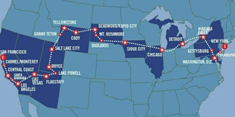 Great American Crossing Map