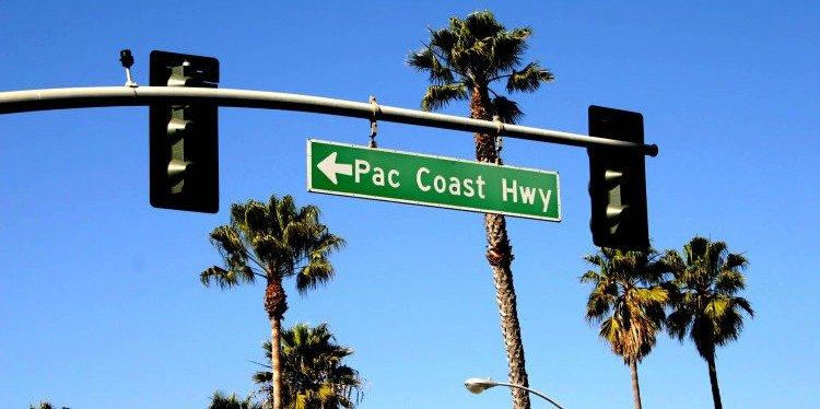 Pacific Coast Highway Sign, California