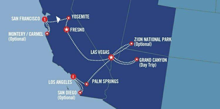 Western Highlights Map