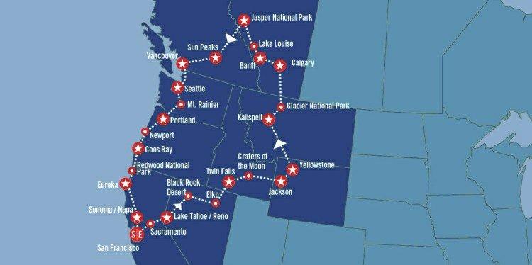 North by Northwest Map