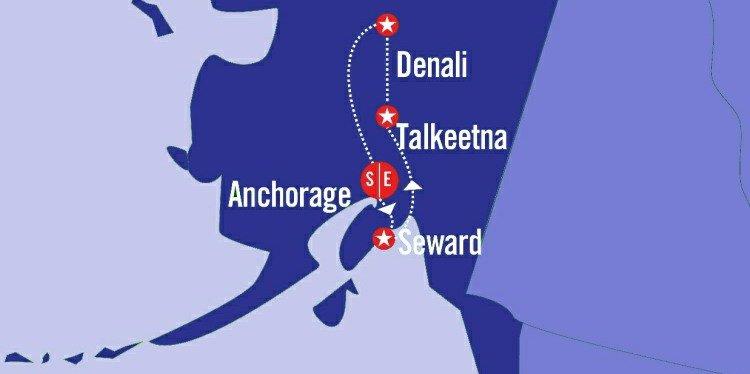 Wonders of Alaska Map