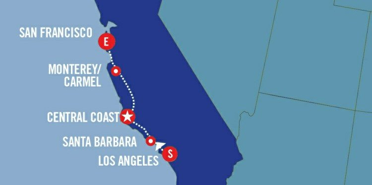 Pacific Coast Express Map