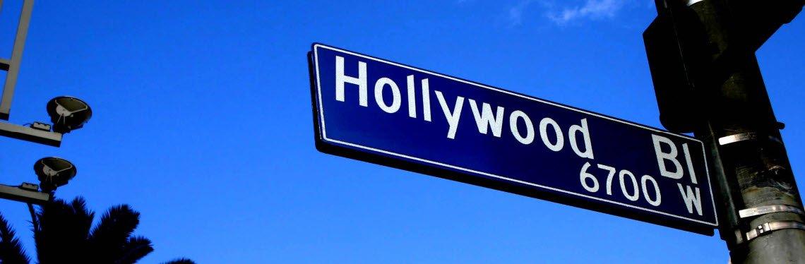 Los Angeles Hollywood Boulevard Sign, California